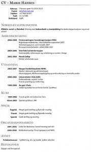 CV-mal Aftenposten
