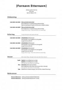 CV mal for ungdom